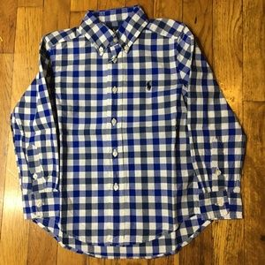 Boys Ralph Lauren Plaid Long Sleeve Button down